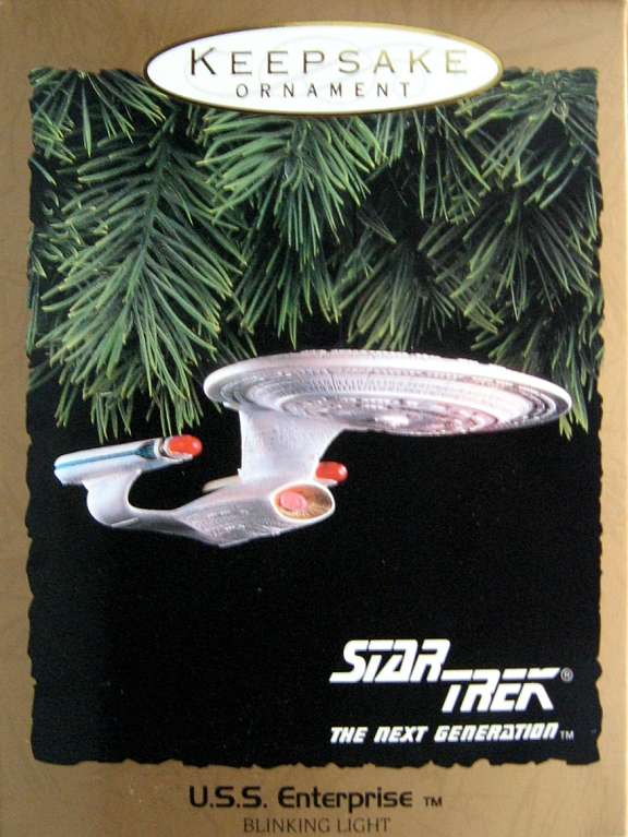 Star Trek TNG USS Enterprise Christmas Ornament Hallmark